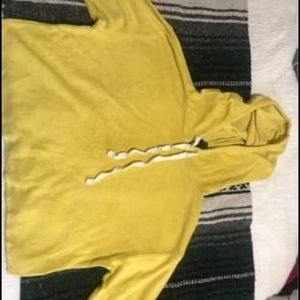 Yellow crop sweatshirt